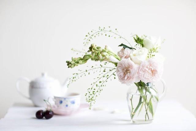 Vũ điệu valse của hoa và bình đựng hoa